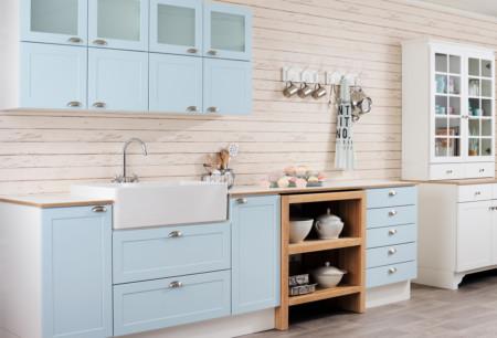 Duo erikoissävy sininen G-436 keittiö