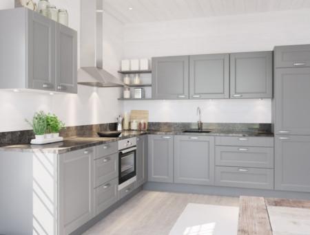 Kastanja antiikki vaalea keittiö